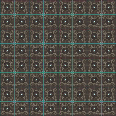 Brown pattern with green lines Çizim