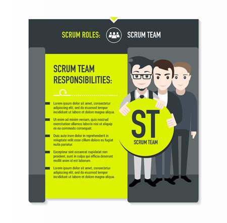 scrum: Scrum roles - Scrum team responsibilities template in scrum development process