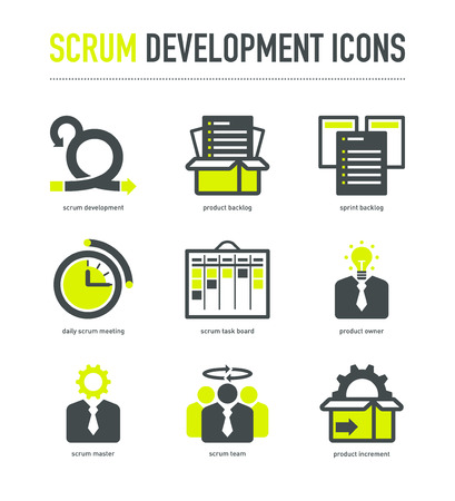 Scrum development methodology icons