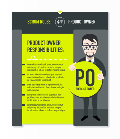 scrum: Scrum roles - Product owner responsibilities template in scrum development process