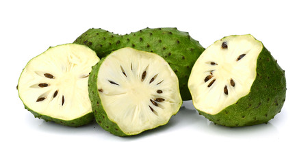 Soursop isolated on white background Фото со стока