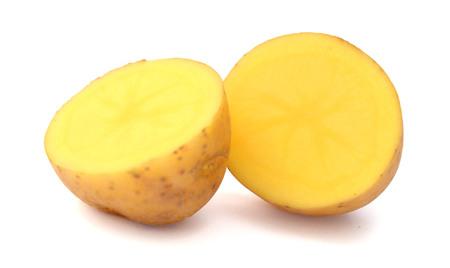 Fresh potato isolated on white ..