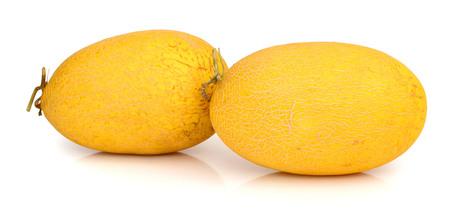 Whole melon isolated on white background