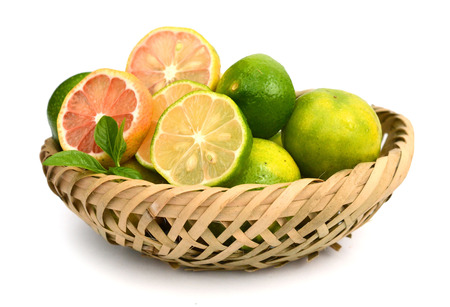 Citrus lime fruit isolated on a white background cutout Stock Photo
