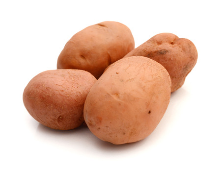 Potato Ratte heap isolated on white background
