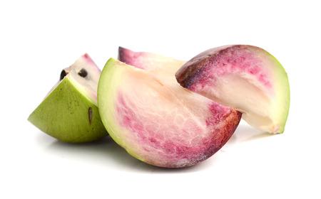 Apple Star, Chrysophyllum Cainito, North Thai Fruit, Isolated.