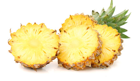 Fresh pineapple on a white background Banco de Imagens