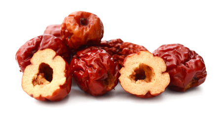 dried jujube fruits on white background Banque d'images