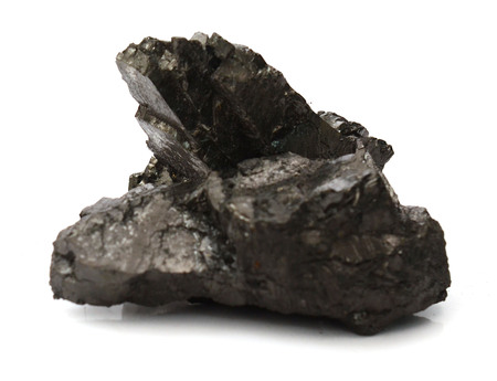 Coal isolated on white background Stock Photo