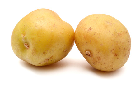potato isolated on white background close up Imagens