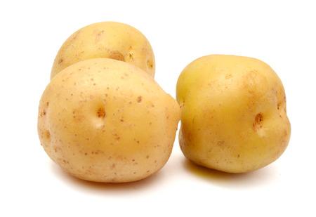 potato isolated on white background close up Banco de Imagens