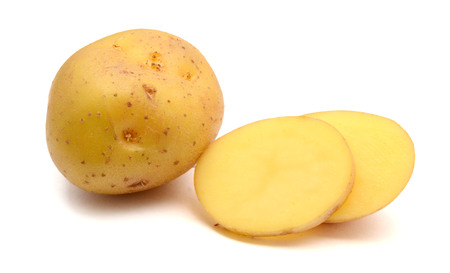 New potato isolated on white cutout Stock Photo