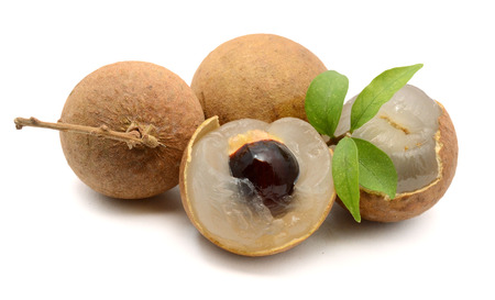 longan. fresh longan on the background Stock Photo