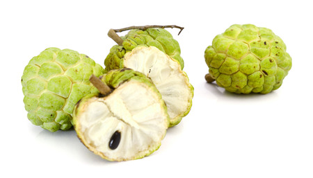 Fresh Custard Apple isolated on white background