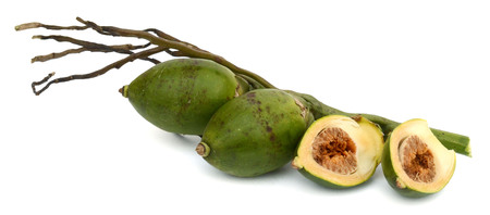 freshly baked nuts isolated on white background Stock Photo