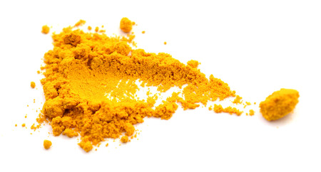 Curcuma powder isolated with dill
