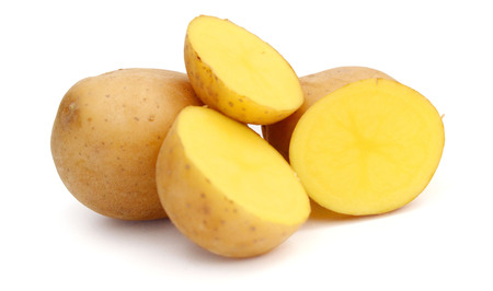 potato on a white background 版權商用圖片