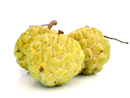 Ripe Sugar Apple fruit isolated on white background 写真素材