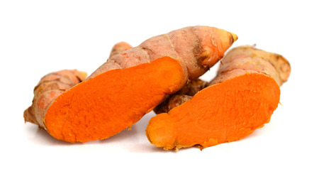 Fresh turmeric isolated on white background. Banque d'images - 118101888