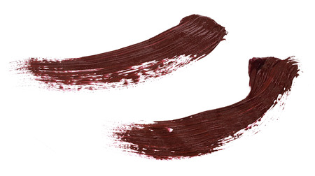 Abstract brushstroke of red paint isolated on white Banque d'images - 118985925