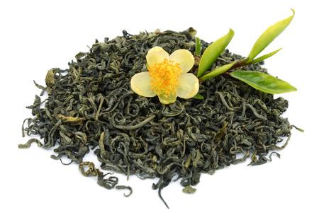 Loose Green Tea Isolated on White Background Archivio Fotografico - 119796157