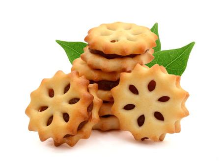 biscotto al cocco con marmellata di ananas