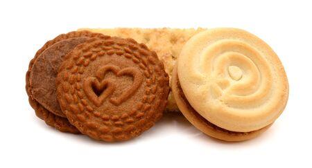 Cerrar saludable galleta de trigo integral sobre fondo blanco. Foto de archivo