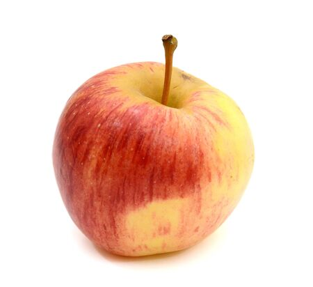 The juicy apple, is red yellow colour