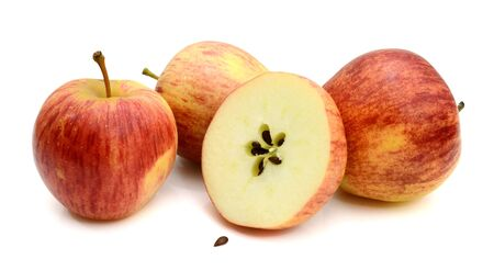 three apple isolated on white background Stok Fotoğraf
