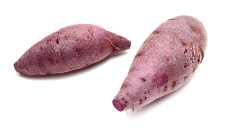 sweet potato isolated on the white background. Banco de Imagens