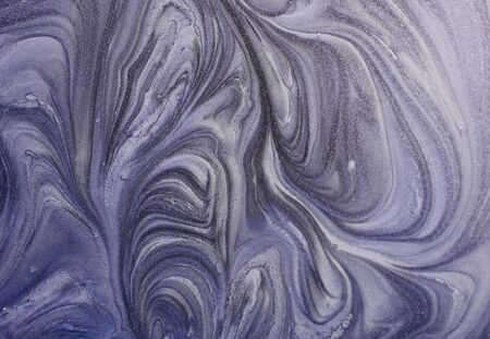 Marbled blue abstract background. Liquid marble pattern.