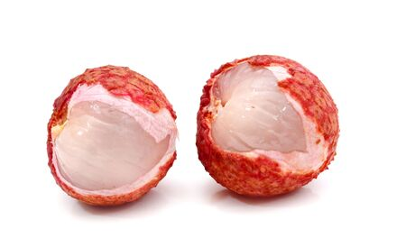 lychees isolated on white Stockfoto