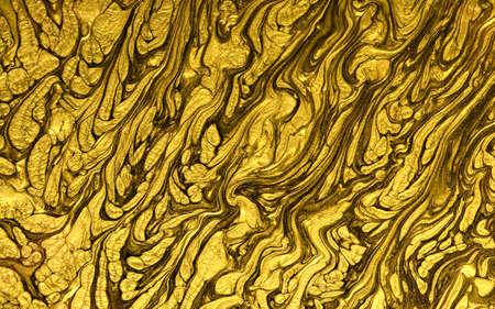 Golden paint texture.