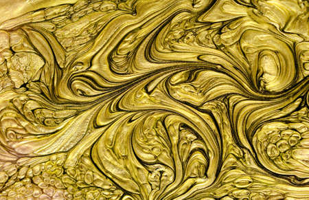 Gold watercolor texture paint stain abstract illustration. Shining brush stroke for you amazing design project. Backdrop, congratulation. 免版税图像