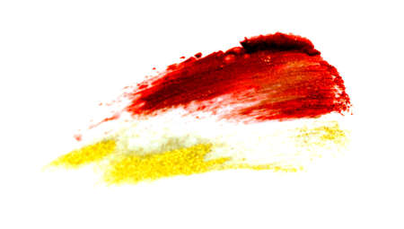 Red lipstick stroke isolated on the white background.