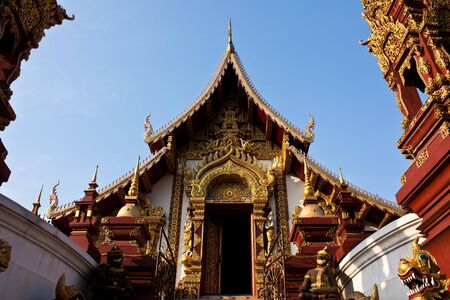 veneration: Buddhist Temple in Chiang Mai