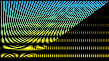 Dot RGB Background television yellow blue and Black color dot use for background design. Vector design. Illustration