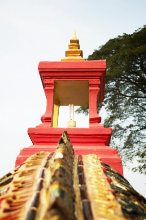 Red Lanterns dragon  Thailand temple photo