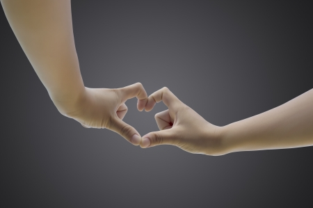 hand in love shape photo