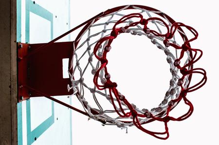 backboard: Basketball backboard below  Stock Photo