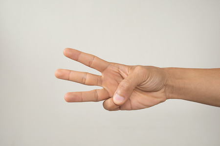 three fingers: hand with three fingers