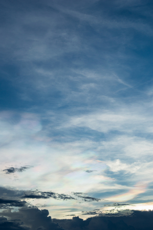 ultramarine blue: Colorful sky and cloudy Stock Photo