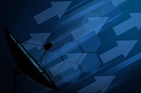 data transmission: Satellite dish transmission data with technology background Stock Photo