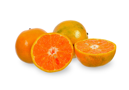 Orange and Sliced orange isolated on white background. Stock Photo - 115309953