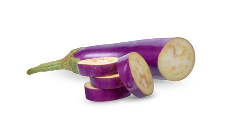 Eggplant isolated on white background. Stock Photo - 115309954