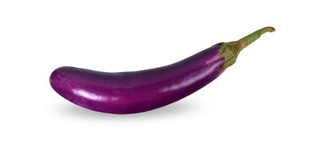 Eggplant isolated on white background. Stock Photo