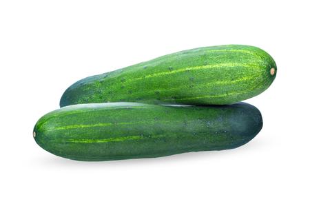 Cucumber isolated on white background. Stock Photo