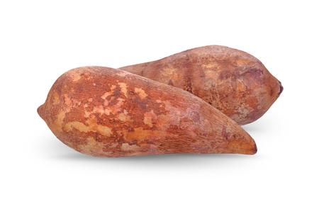 Yacon fruit   isolate on white background