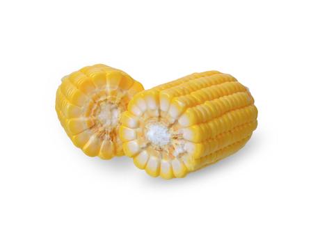 Corn isolated on white background.