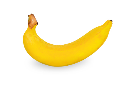 Banana isolated on white background. Paths.